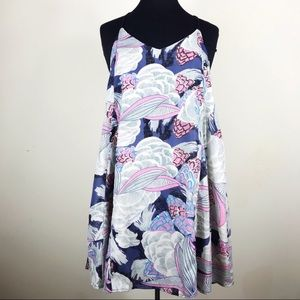 🌟$5 SALE ANGL Blue & Pink Floral Print Dress